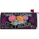 Friends Welcome Spring Mailbox Cover