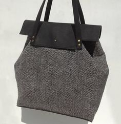 handmade harris tweed and leather ada bag by colstudio | notonthehighstreet.com