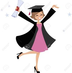 Graduation Gown Stock Vector Illustration And Royalty Free Graduation Gown Clipart Graduation Cartoon, Graduation Images, Graduation Cards, Bff Drawings, Graduation Photography, Girl Inspiration, Girl Cartoon, Clipart, Royalty Free Images