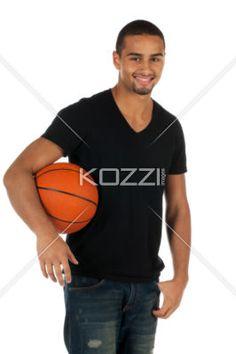 man and basketball - Man holding a basketball