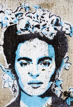 Frida Kahlo street art - Photography by Thomas Hawk, via Flickr