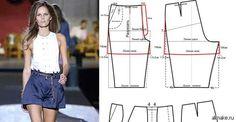 Как выкроить брюки в картинках