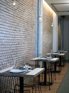 Restaurant, Athens. lamps.