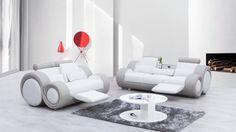 UNWIND Leather Sofa Suite 3 + 2