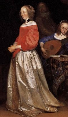 "1658   Герард Терборх ""Визит жениха""  detail"