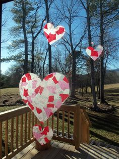Valentine's craft for kids... contact paper, tissue paper & glitter