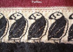Puffin pattern, also penguins, tree, etc at the source