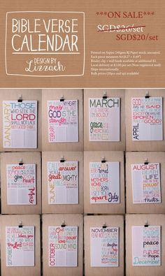 Lizzaeh ~ Design & Stationery — Bible Verse Calendar