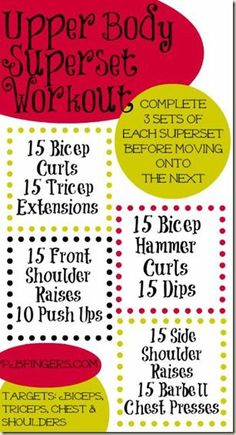 At home workout for losing the baby weight ... upper body workout