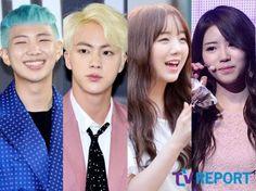Today Inkigayo special emcees #BTS #방탄소년단 ❤❤❤ RapMonster & Jin & Lovelyz Kei & Mijoo (do good boys) :)