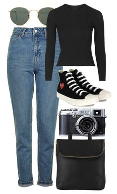 """""""Untitled #6168"""" by rachellouisewilliamson on Polyvore featuring Topshop, Ray-Ban, Comme des Garçons and Whistles"""