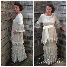 """""""Emmy Collection"""" by Zadie B's                Champagne shimmer rose lace, S-XL. Call us for inquiries or to order, 601-957-6050."""