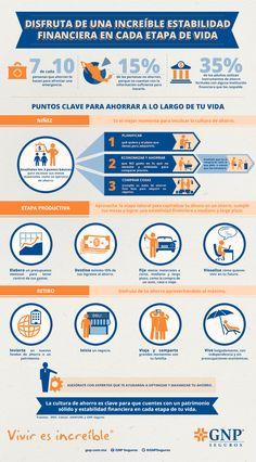 Infografía realizada para GNP Seguros: Disfruta de una Increíble Estabilidad Financiera en cada Etapa de Vida