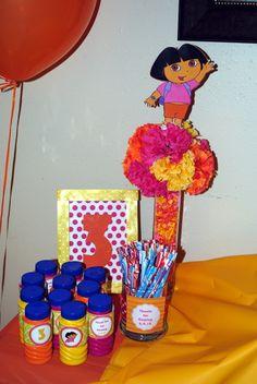 Photo 1 of 14: Dora the Explorer / Birthday A-Dora-ble Birthday Celebration | Catch My Party