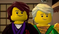 Lloyd and young Lord Garmadon side by side. Note the slight difference