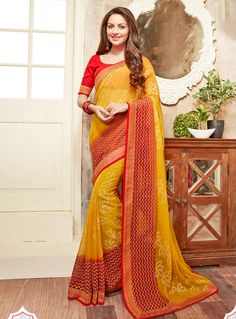 Indian Clothes, Indian Outfits, Chiffon Saree, Festival Wear, Shopping Websites, Indian Sarees, Sari, Fashion Outfits, Boutique