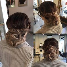 #hairdo / #updo for #weddingguest  #hair #bun #curlyupdo #curls #braid #braidedupdo #hairbyelisa #hairdesignfactory #elyciaturku
