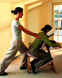 Chair Massage Techniques for the Back, Relaxation, Back ...