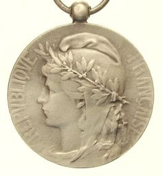 Vintage Silver Art Medal of the MARIANNE signed by CherishedSaints, $74.00