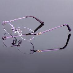 452d20cbd8d Voguish eyeglasses women brand prescription glasses rimless frame optical  eyeglasses fashion glasses Oculos de grau myopia