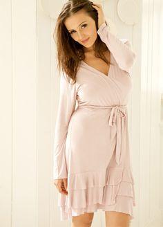 99a2d64fbb Belabumbum - Colette Ruffle Nursing Robe. Shop online for pretty maternity  sleepwear at Queen Bee