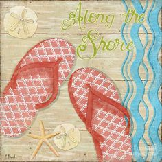 Flip Flop Painting - Hit The Beach II by Paul Brent