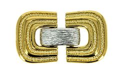 Mixed-Metal Three-Strand Fold-Over Clasp, 37x20