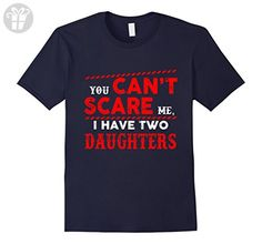 Men's Funny T-Shirt For Dad Who Have Two Daughters. XL Navy - Birthday shirts (*Amazon Partner-Link)