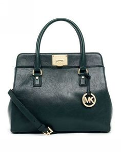 Michael Kors Astrid Large Satchel Hunter Green Matte Leather