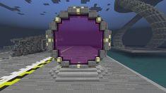 Stargate (nether portal design) Minecraft Project - Mine Minecraft World Minecraft Portal, Minecraft Building Guide, Minecraft Banners, Minecraft Plans, Minecraft Decorations, Minecraft City, Minecraft Construction, Minecraft Survival, Minecraft Tutorial