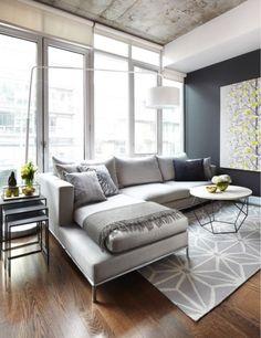 25 Beautiful Modern Living Room Interior Design examples - Home Designs Ideas 2017 Living Room Modern, Home Living Room, Apartment Living, Interior Design Living Room, Living Room Designs, Small Living, Cozy Apartment, Apartment Design, Modern Sofa