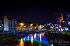 River Cart with Christmas Lights