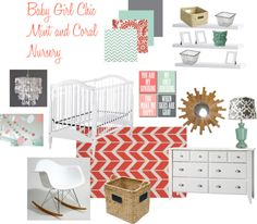 Baby Girl Chic Mint & Coral Nursery