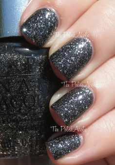 OPI Fall 2013 DS Shades: Pewter // Below is DS Pewter with top coat, as you can probably tell it deepens up the base color quite a bit and makes it look like more of a grey/black base.