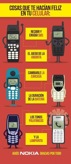 Nuestros antiguos y queridos teléfonos móviles Nokia.