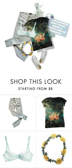"""in the air tonight"" by dog8787 ❤ liked on Polyvore featuring Clips, Citizens of Humanity, L'Agent By Agent Provocateur, Wet Seal, Converse, GREEN, lightgreen and fashionset"
