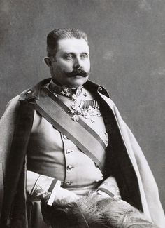 The tragic Archduke Franz Ferdinand of Austria. Franz Ferdinand 18 December 1863 – 28 June 1914 was an Archduke of Austria-Este, Austro-Hungarian & Royal Prince of Hungary & of Bohemia & from 1889 until his death, heir presumptive to the Austro-Hungarian throne His assassination in Sarajevo precipitated Austria-Hungary's declaration of war against Serbia.