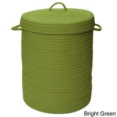 "Colonial Mills Savvy Textured Portable Lidded Storage Hamper (Savvy Storage Bright Green 16x16""x22"" Hamper)"