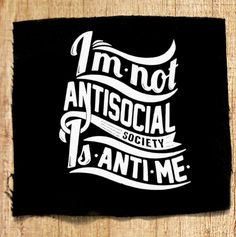 Punk Patch Rebel Antisocial Quote Punk Patch por OneHandPrinting