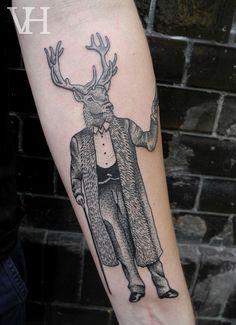 valentin hirsch / deerman tattoo