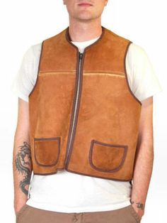 The Cats Pajamas - Vintage Mens Vest Shearling Hunting Vest 1950S Cool Pockets, $199.00 (http://www.thebestvintageclothing.com/vintage-clothing-mens/vintage-mens-workwear/vintage-mens-vest-shearling-hunting-vest-1950s-cool-pockets/)