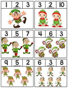 FREE Elf Clip Cards for Numbers 1-10, 18 cards in total! #mathcenters #math #preschool #preschoolers #preschoolactivities #kindergarten #Homeschooling #teacherspayteachers