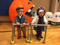 Baby Halloween costume dressed up as old couple