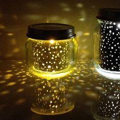 constellation jar - solar mason jar with foil