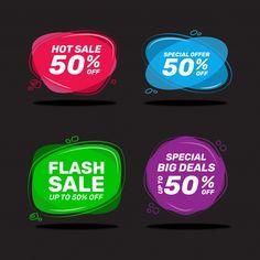 Sale label set | Premium Vector #Freepik #vector #banner #sale #template #badge Happy New Year Banner, Paper Banners, Deal Sale, Instagram Post Template, Paint Splash, Red Paper, Sale Banner, Sale Poster, Banner Template