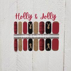 Christmas Nails / Nail Stickers/ Reindeer Nails / Nail Polish Strips Christmas Nail Stickers, Christmas Nails, Nail Bed, Clean Nails, Cuticle Oil, Nail Polish Strips, Us Nails, Nail Wraps, Short Nails
