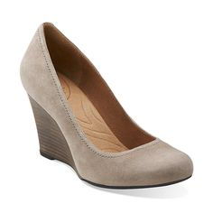 Purity Snow in Mushroom Suede - Womens Shoes from Clarks