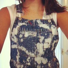 Yes, I just DIYed some overalls, and I think they're just plain awesome! #DIY #overalls #bleached