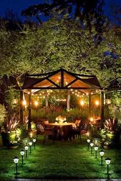 outdoor lighting idea you need to have - . Best outdoor lighting idea you need to have - .,Best outdoor lighting idea you need to have - ., 29 Best Backyard Patio Deck Design Ideas : Page 8 of 30 : Creative Vision Design French Gardens Gazebo Lighting, Best Outdoor Lighting, Backyard Lighting, Landscape Lighting, Outdoor Decor, Lighting Ideas, Outdoor Living, Outdoor Ideas, Outdoor Lantern