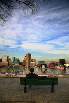View of de Baltimore skyline, Maryland_ South United States